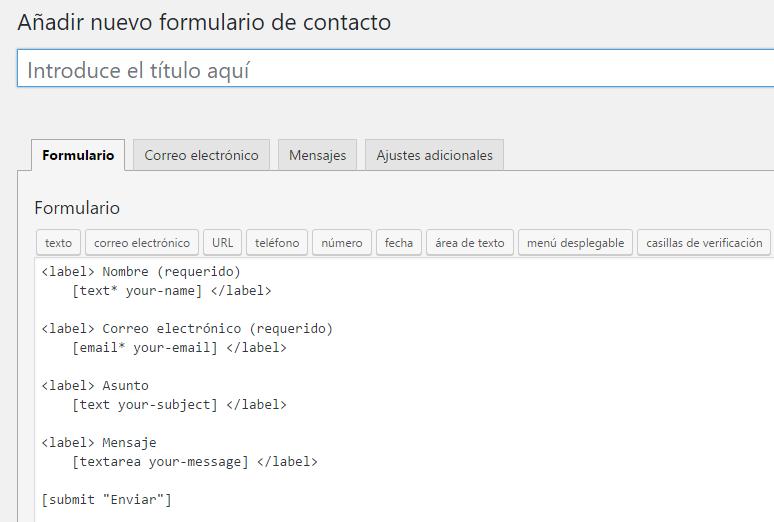 crear formularios de contacto