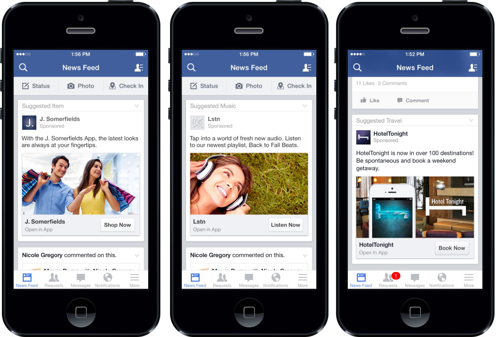 Facebook ads para moviles