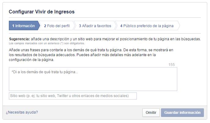 Como crear pagina facebook